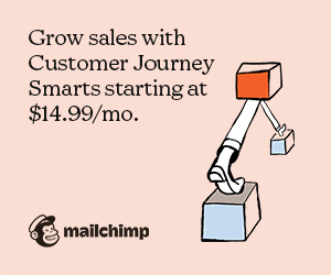 Grow sales with Mailchimp's Customer Journey Smarts. Starting at $14.99/mo.