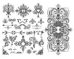 Wedding-floral-lace-pattern-vector