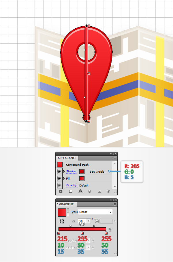 how to design map marker adobe illustrator