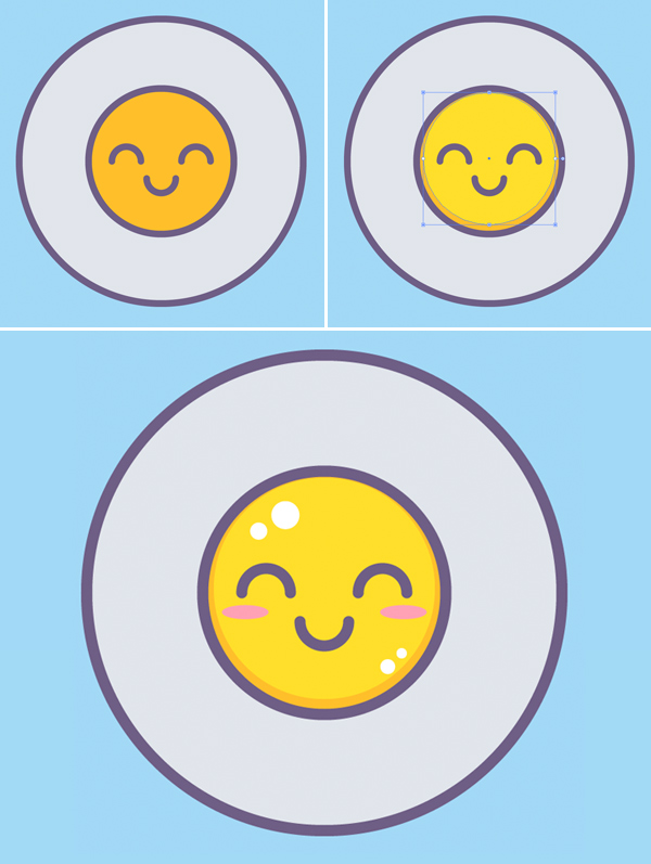 fried egg illustration vector tutorial