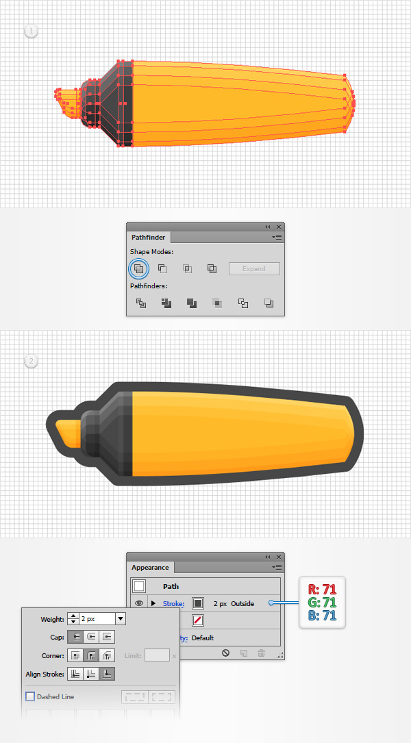 how to create highlighter in illustrator