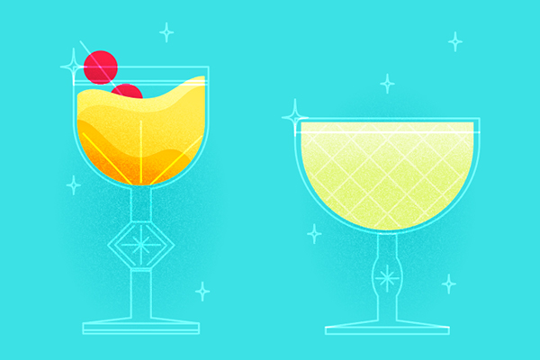 how to illustrate a cocktail in illustrator