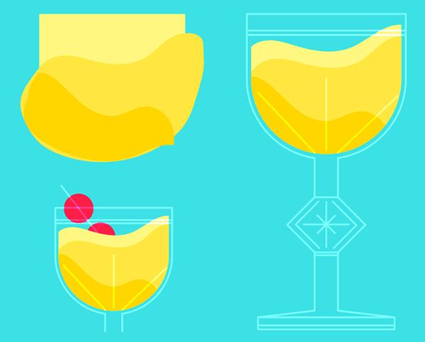 How to design a margarita in Illustrator