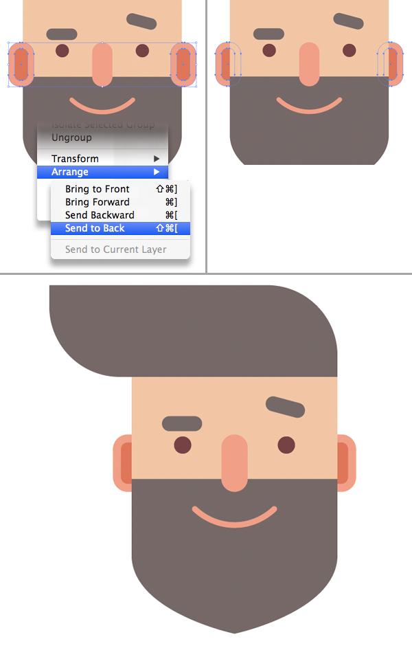 Design how-to hipster bearded man