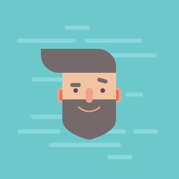 hipster character adobe illustrator tutorial features man hipster guy with beard and pompadour