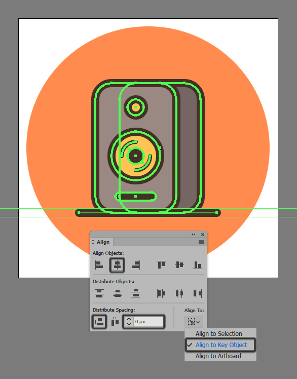 How to illustrate a sound system speaker tutorial