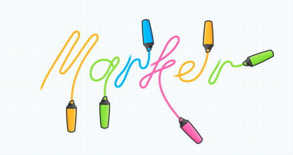 How to create a marker or highlighter font in Illustrator