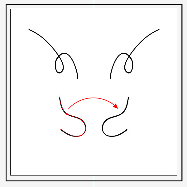 Tutorial mirroring images in Illustrator