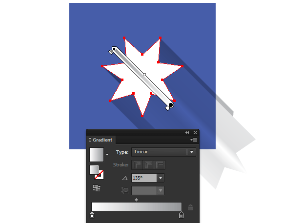 how to design long shadow effect