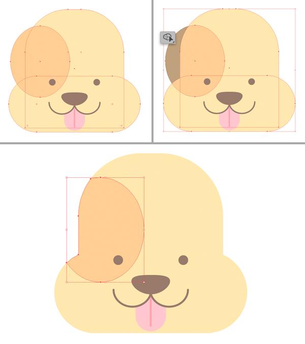 how to illustrate dog in Adobe Illustrator