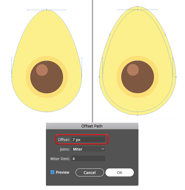Avocado Pattern Illustrator tutorial