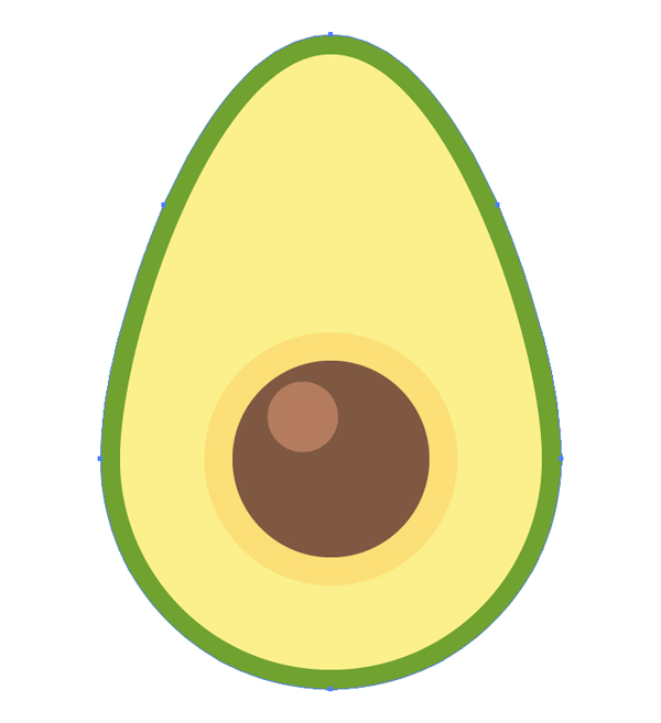 how to design an avocado seamless pattern