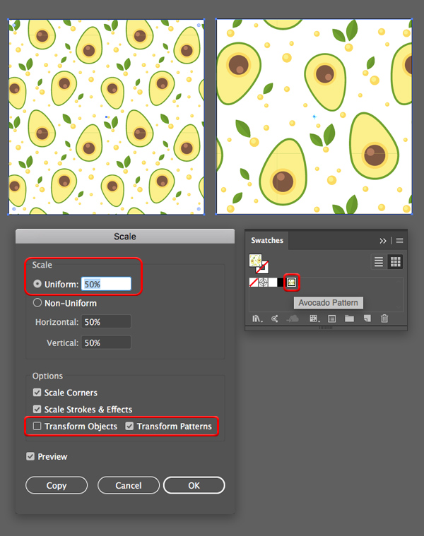 Seamless pattern tutorial Adobe Illustrator