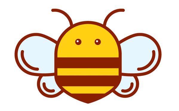 How to make honey bee logo illustration in Adobe Illustrator CC - tutorial for beginners