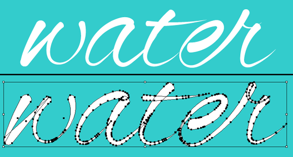 How to make water-themed alphabet