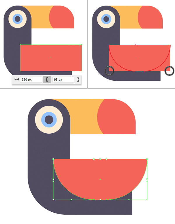 tropical bird vector tutorial