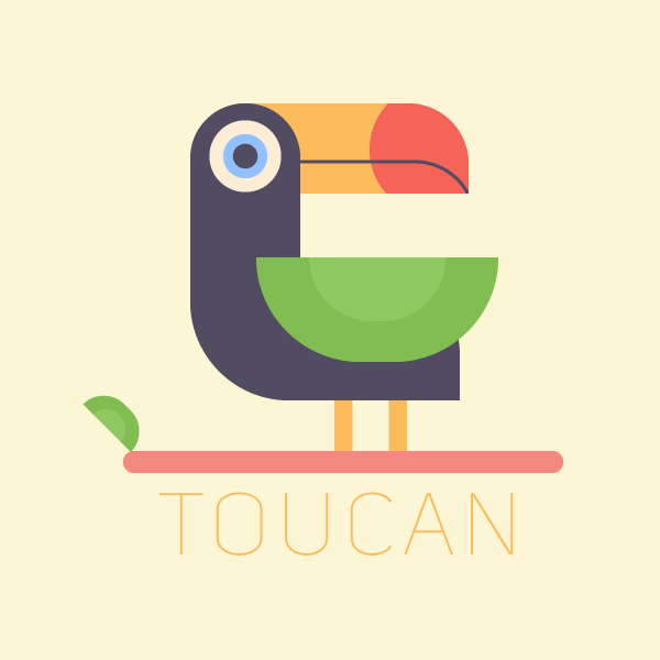 how to make a tropical bird vector