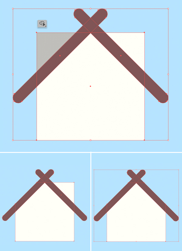How to draw a birdhouse vector