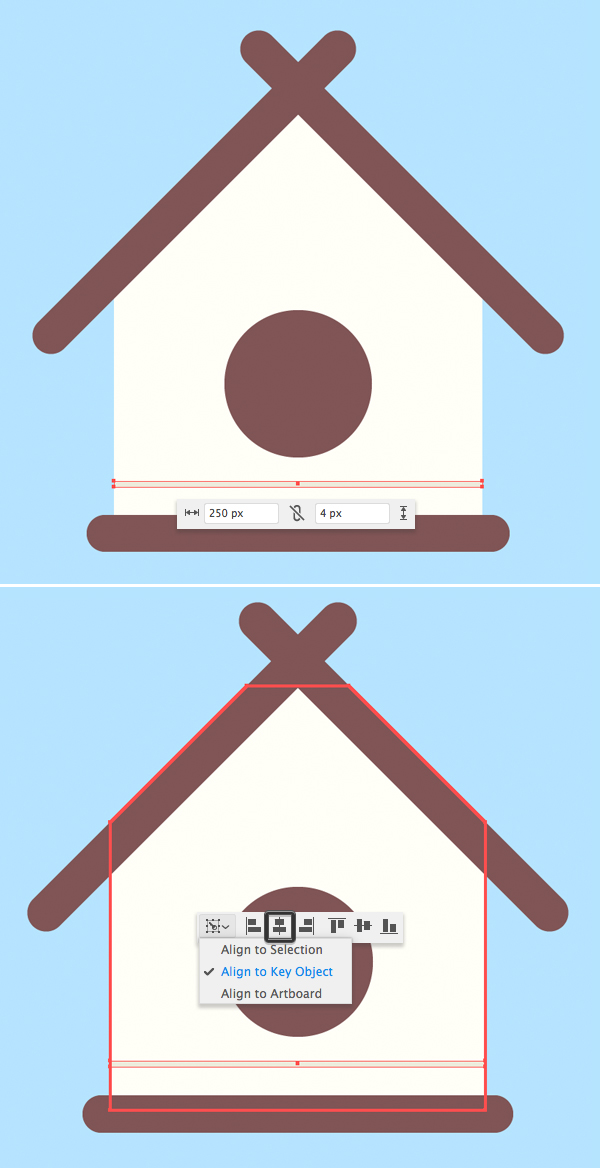 How to design a birdhouse logo Adobe Illustrator