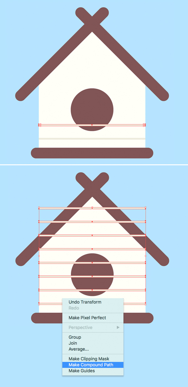 birdhouse illustration how-to