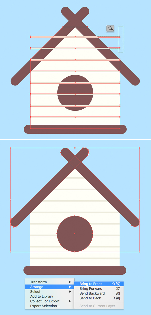 fast birdhouse vector tutorial