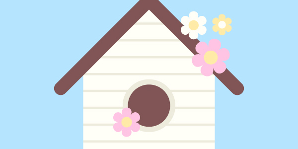 illustrate a birdhouse vector with adobe illustrator