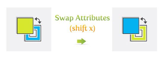 Swap Attributes (shift x)