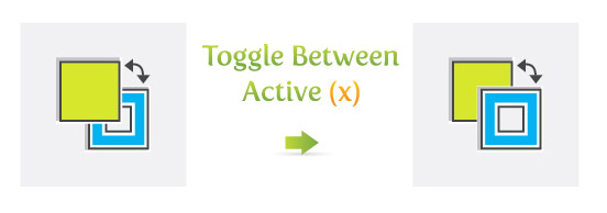 Toggle Between Active (x)