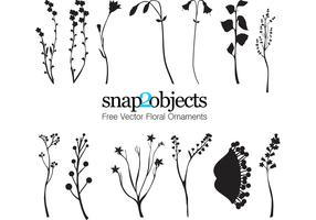 Flower Vector Foliage Ornaments Pack 01