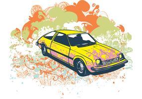 Grunge retro car vector illustration