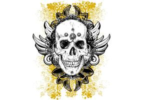 Skull Vector Wicked Illustration