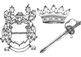 Hand Drawn Heraldic Elements