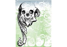 Free Money skull Vector