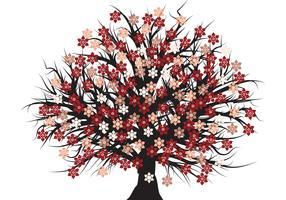 Free vector blossom tree