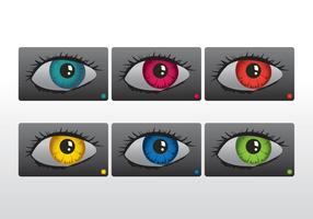Colourful eyes vector