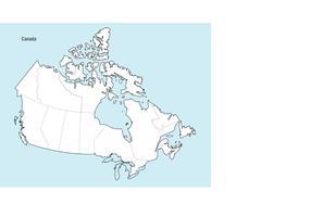 Canada Map Vector