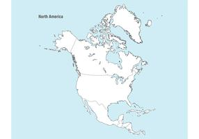 North America Map Vector