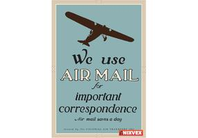 "NixVex ""We Use Air Mail"" Free Vector"