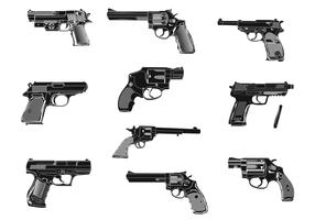 Hand Gun Vectors