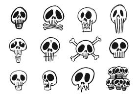 Sketchy Skull Vector Pack