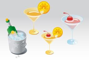 Champagne Cocktail Vectors
