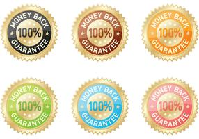 "Colored ""Money Back Guarantee"" Vectors"