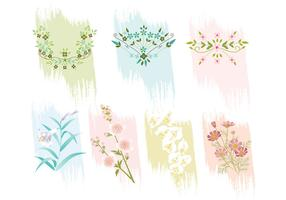 Beautiful Flowers Vector Pack
