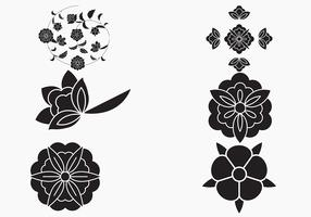 Simple Flower Vector Background
