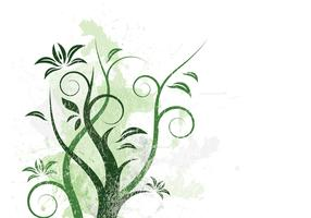 Grungy Vines Background Vector