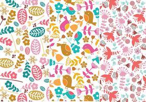 Flower and Bird Illustrator Patterns