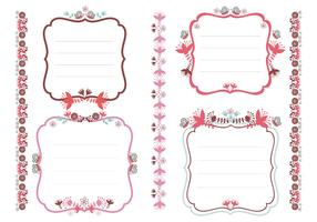 Floral Tags and Borders Vector Pack