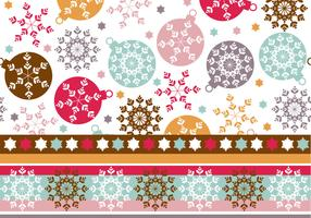 Snowflake Ornament Wallpaper & Illustrator Pattern