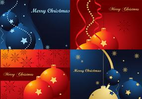 Bright Christmas Wallpaper Vectors