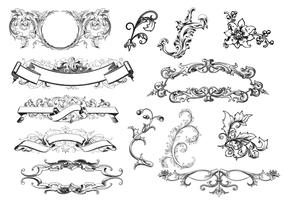 Antique Scroll Ornament Vectors